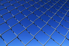 Chain link fence mesh Stock Photo