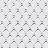 Chain link fence. Metal chain link fence seamless  on background. Vector illustration Stock Photography