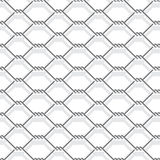 Chain link fence. Metal chain link fence seamless on white Stock Photography