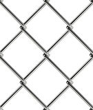 Chain link fence seamless pattern. Industrial style wallpaper. Realistic geometric texture. Graphic design element for web site background, catalog. Steel wire Stock Photography