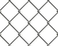 Chain link fence seamless pattern. Industrial style wallpaper. Realistic geometric texture. Graphic design element for web site background, catalog. Steel wire Royalty Free Stock Images
