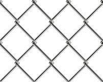Chain link fence seamless pattern. Industrial style wallpaper. Realistic geometric texture. Graphic design element for web site background, catalog. Steel wire Royalty Free Stock Photos