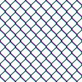 Chain-link fence seamless pattern. On white background. Vector illustration Stock Photo