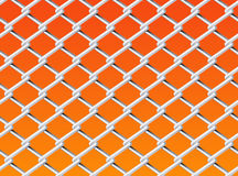 Chain Link Fence Set 2. Vector Drawing Stock Images
