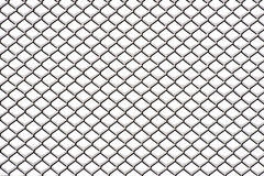 Chain link fence with snow Stock Photo