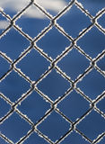 Chain link fence with snow Stock Images