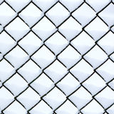 Chain link fence with snow Royalty Free Stock Image