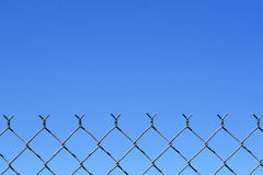 Chain link fence top Royalty Free Stock Photography