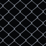 Chain Link Fence Vector. A 3D chain link fence texture over black - this tiles seamlessly as a pattern in any direction Stock Photo