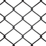 Chain Link Fence Vector. A chain link fence texture.  This vector image is fully customizable Stock Photo
