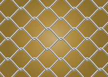 Chain Link Fence Vector. Background Stock Images