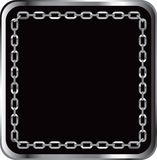 Chain link frame. With black background Royalty Free Stock Image