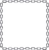 Chain link frame on white background. Chain link frame with white  background Royalty Free Stock Photography
