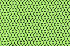 Chain Link Grid On Green. Chain link grid or pattern in black on a green background Stock Photography