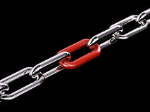 Chain link. High resolution. 3D render Royalty Free Stock Photos