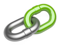 Chain link isolated on white background Royalty Free Stock Photo
