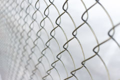 Chain link net. Close up chain link net for fence, outdoor Royalty Free Stock Photos