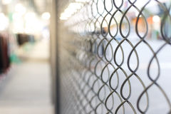 Chain link net. Close up chain link net for fence, outdoor photo Royalty Free Stock Images
