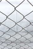 Chain link net. Close up chain link net for fence, outdoor photo Stock Images