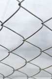 Chain link net. Close up chain link net for fence, outdoor photo Royalty Free Stock Photos