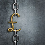 Chain link pound Royalty Free Stock Images