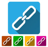 Chain Link Symbol Icons with Diagonal Shadows Royalty Free Stock Photo