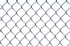 Chain Link on White. Chain link fence design on a white background royalty free stock photos