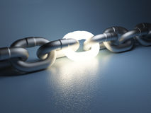 Chain link  on white background Royalty Free Stock Images