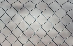 Chain Linked Fence stock image