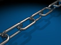 Chain links. A length of chain links Stock Photos