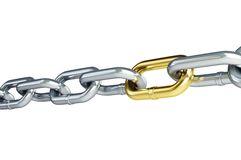 Chain links. On a white background Royalty Free Stock Images