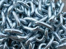 Chain links. In pile, background image royalty free stock images