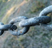 Chain links. Links in an old chain Royalty Free Stock Images