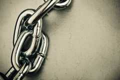 Chain links. Copy space, old style Stock Photos
