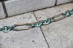 Links of the old chain stock images