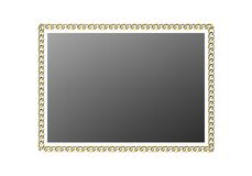 Chain links frame. Metal chain border or frame Royalty Free Stock Photography