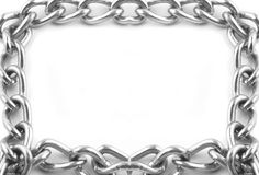 Chain links frame Stock Image