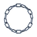 Chain links united in ring Stock Photography