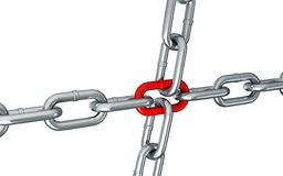 Chain links on a white background Stock Photos