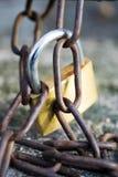 Chain and lock Stock Photo