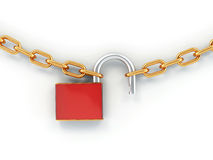 Chain with lock Stock Image