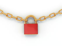 Chain with lock Royalty Free Stock Photo