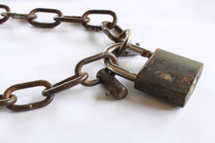 Chain lock Stock Images