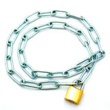 Chain on the lock Stock Photo