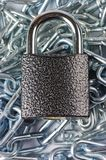 Chain with the lock Royalty Free Stock Image