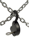 Chain on the lock_2 Royalty Free Stock Photo
