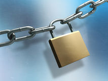 Chain and lock Royalty Free Stock Image