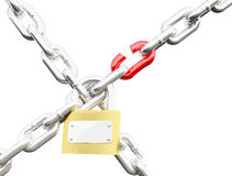Chain lock Stock Photography