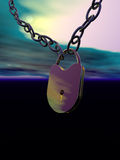Chain and lock abstract Stock Photo