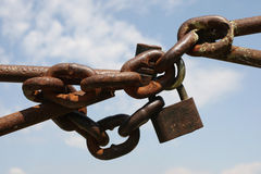 Chain with a lock Stock Photo
